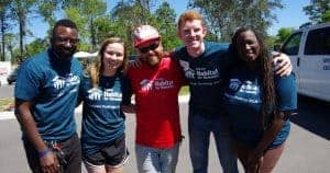Josh with Collegiate Challenge volunteers