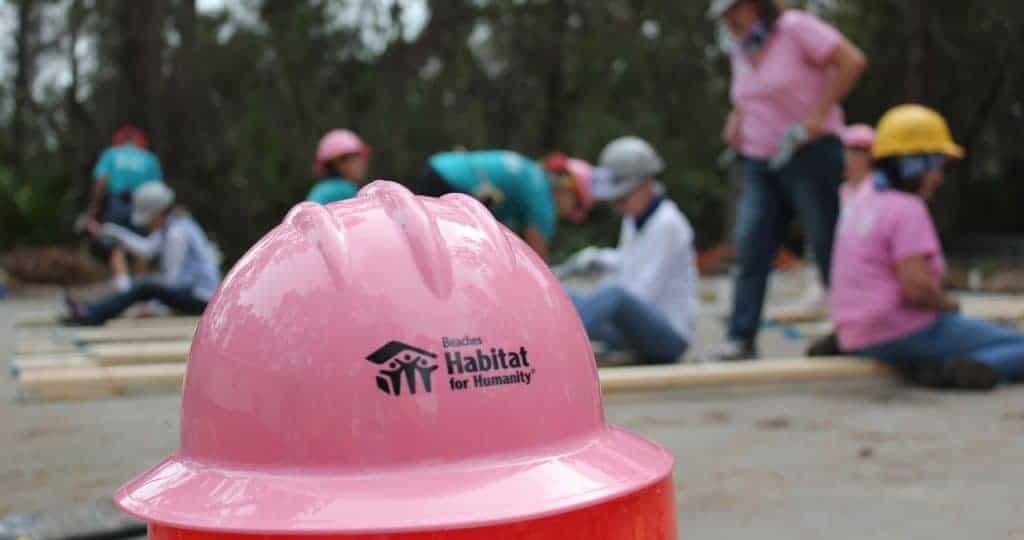 Women Build hard hat