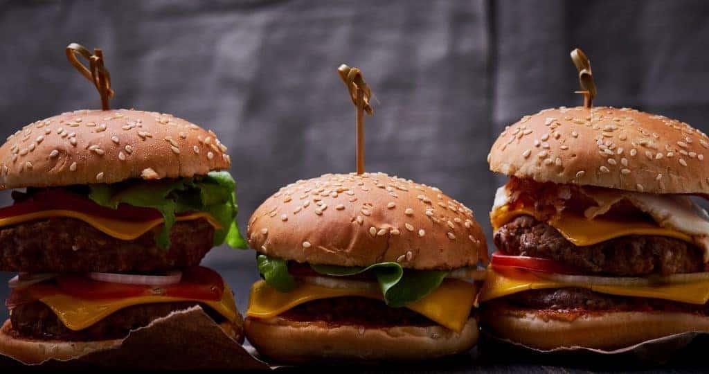 Three Cheeseburgers
