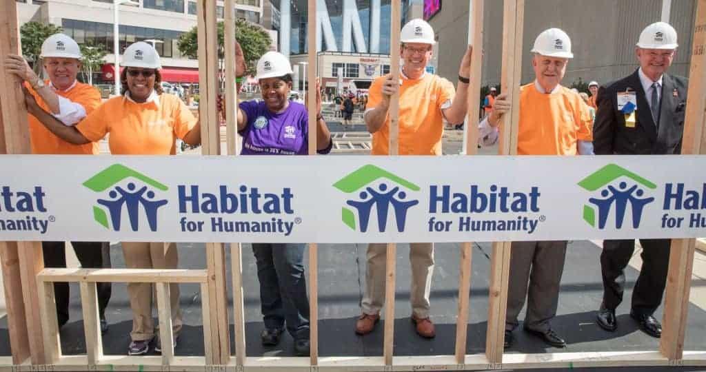 Rotary members with Habitat CEO