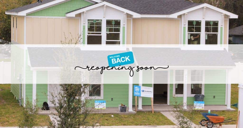 Welcome back: reopening soon over picture of duplex home