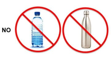 No: images of water bottles without removable mouthpieces