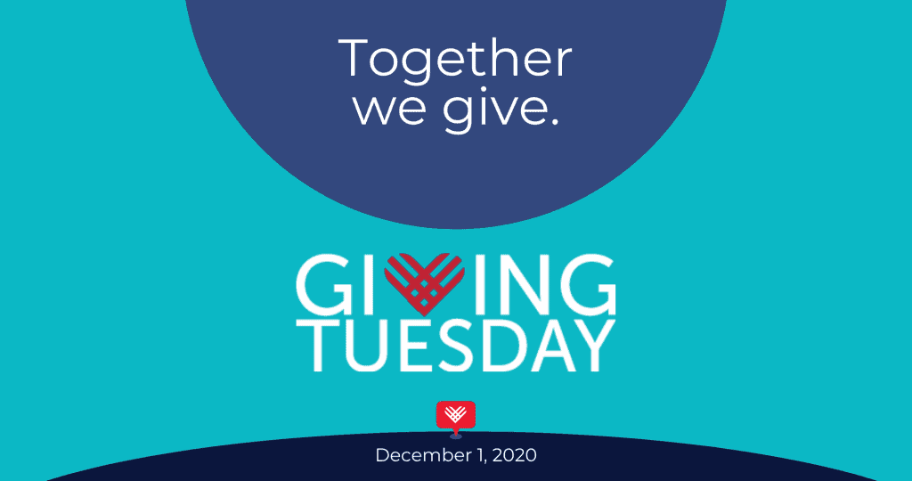 Together we give. Giving Tuesday. December 1, 2020