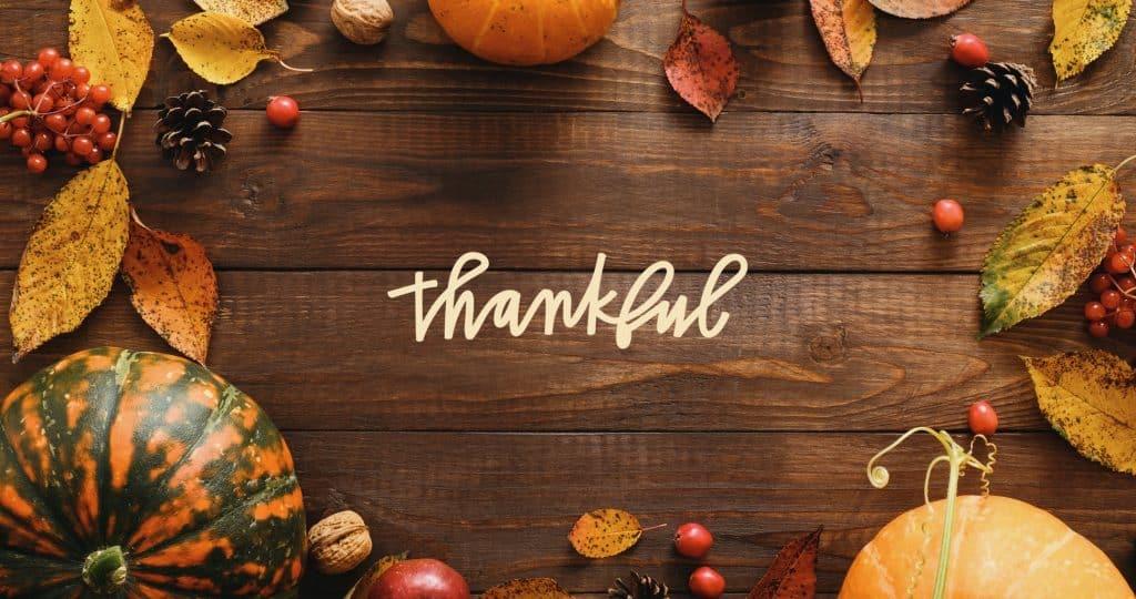 Thankful in autumn frame