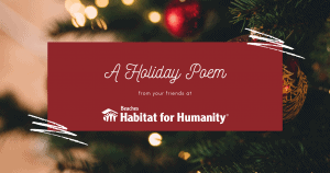 A holiday poem from your friends at Beaches Habitat
