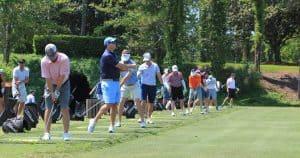 Golfers on Practice Green