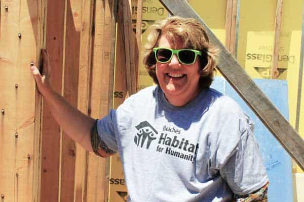 Women on construction site